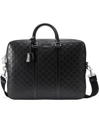 48ee41ddb98f Gucci Gg Marmont Leather Briefcase in Brown for Men - Lyst