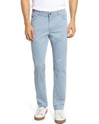 Brax Cooper Five Pocket Stretch Cotton Pants - Blue