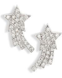 EF Collection - Shooting Star Diamond Earrings - Lyst