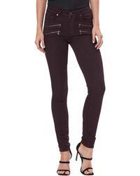PAIGE High Rise Edgemont Jeans - Purple