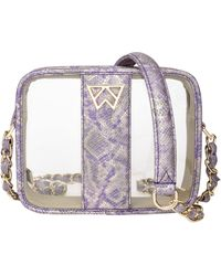 Kelly Wynne Clear Mingle Mingle Mini Crossbody Bag - Purple - Multicolor