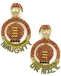 Elizabeth Cole   Jolly Santa Crystal Drop Earrings   Lyst