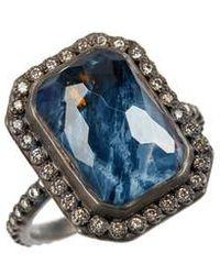 Armenta - Old World Midnight Emerald-cut Quartz & Diamond Ring - Lyst