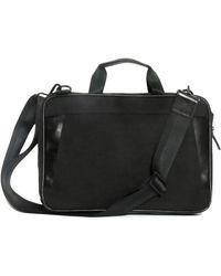 Boconi Collins Canvas Briefcase - Black