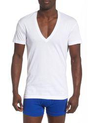 2xist - 3-pack Slim Fit Deep V-neck T-shirt, White - Lyst