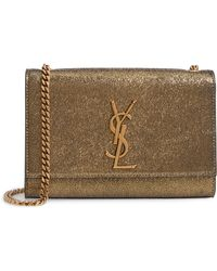 c1551abd7af Saint Laurent - Small Kate Metallic Leather Crossbody Bag - - Lyst