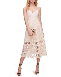 Astr Lace Midi Dress - Pink