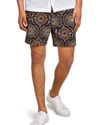 TOPMAN - Tapestry Chino Shorts - Lyst