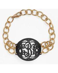 Moon & Lola | 'annabel' Medium Oval Personalized Monogram Bracelet (nordstrom Exclusive) | Lyst