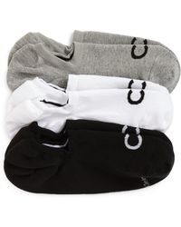 Calvin Klein - 3-pack No-show Socks, Grey - Lyst