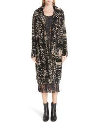 Fuzzi Multicolour Knit Coat