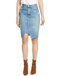 FRAME Pencil Skirt - Blue