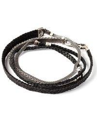 Title Of Work - Mesh & Leather Wrap Bracelet - Lyst