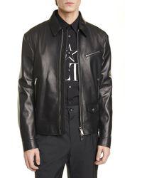 Valentino - Vltn Leather Jacket - Lyst