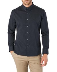 7 Diamonds Old Town Road Slim Fit Button-up Shirt - Blue