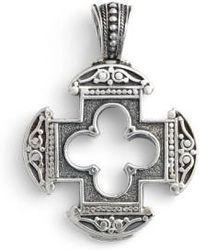 Konstantino | Silver Classics Cutout Cross Pendant | Lyst
