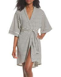 Maison Du Soir - Florence Short Robe - Lyst