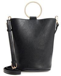 mali + lili - Mali + Lili Ilia Vegan Leather Ring Handle Bucket Bag - Lyst