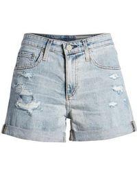 AG Jeans - Hailey High Waist Cuff Denim Shorts - Lyst