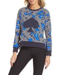 Kate Spade - Hibiscus Stripe Sweatshirt - Lyst