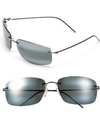 Maui Jim - 'frigate - Polarizedplus2' 65mm Polarized Sunglasses - Gunmetal Blue/ Neutral Grey - Lyst
