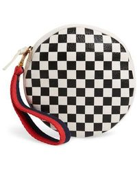 Clare V. - Checkered Leather Circle Clutch - - Lyst