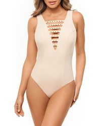 Miraclesuit Romancing The Stone One-piece Swimsuit - Natural