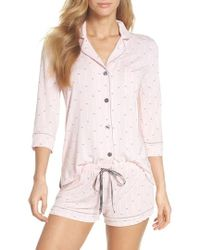 Pj Salvage - Modal Three-quarter Sleeve Short Pajamas - Lyst