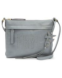Frye | Carson Perforated Logo Leather Crossbody Bag | Lyst