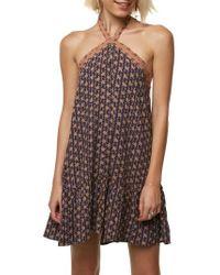 O'neill Sportswear - Laila Halter Neck Dress - Lyst