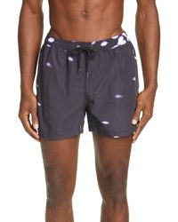 Ksubi Fractals Resort Swim Trunks - Blue