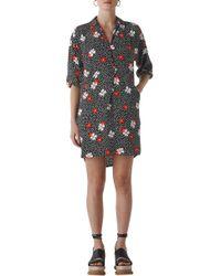 01357b48 Whistles - Lola Floral Confetti Print High/low Dress - Lyst