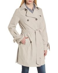 French Connection | Tie Cuff Water Resistant Trench Coat | Lyst