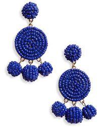 Panacea - Circle Drop Earrings - Lyst