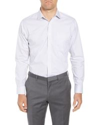 Nordstrom - Trim Fit Non-iron Stripe Dress Shirt - Lyst