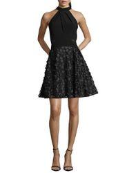Xscape - 3d Floral Party Dress - Lyst