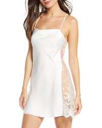 Rya Collection Darling Lace Trim Chemise - White
