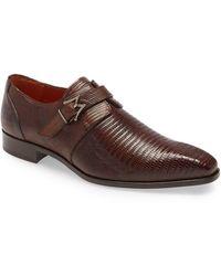 Mezlan Athens Monk Strap Shoe - Brown