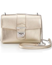 272bf77d9b Lyst - Jimmy Choo 'Small Anabel' Metallic Leather Crossbody Bag in Pink