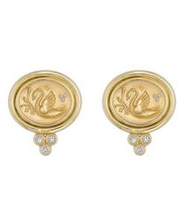 Temple St. Clair | Temple St. Clair Object Trouve Diamond Coin Earrings | Lyst