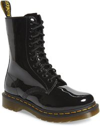 Dr. Martens Original Icons 1490 Patent Leather Mid-calf Boots - Black