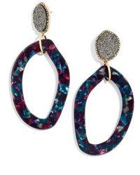 BaubleBar - Tristana Drusy & Oval Drop Earrings - Lyst