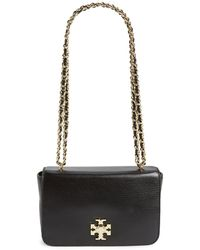 Tory Burch 'mercer' Leather Shoulder Bag - Black