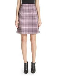 Burberry - Stanforth Plaid A-line Skirt - Lyst
