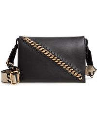 Lyst - Stella McCartney Mini Star Quilted Faux Leather Camera Bag in ... 546c5f4b88e87