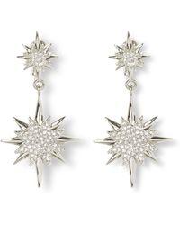Vince Camuto - Double Drop Celestial Clip Earrings - Lyst