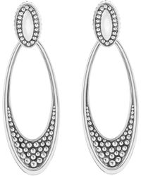 Lagos - 'signature Caviar' Omega Drop Earrings - Lyst