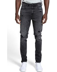 PRPS Warlock Spattered Skinny Fit Stretch Jeans - Multicolour