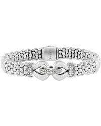 Lagos | 'derby' Caviar(tm) Diamond Rope Bracelet (online Only) | Lyst