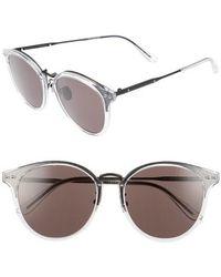 Bottega Veneta - 56mm Round Sunglasses - - Lyst